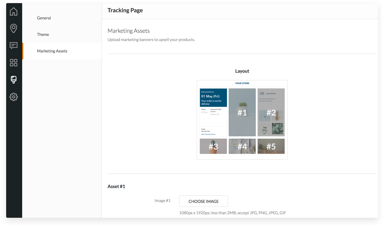 Introducing Marketing Assets for Tracking Page