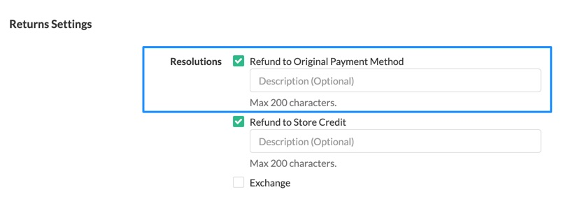 Refund to Shopify orders in Returns Center